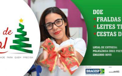 IBRAGESP lança campanha 'Laços de Natal' na Policlínica Cruz Preta/Engenho Novo